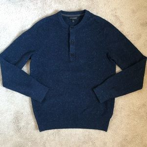 Banana Republic Wool Silk Marled Pullover Sweater